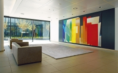 The Parade of Colors, 1996, 2,8 x 5,2m, foyer of the Santander Consumer Bank AG, Mönchengladbach, photo: Studio Mack
